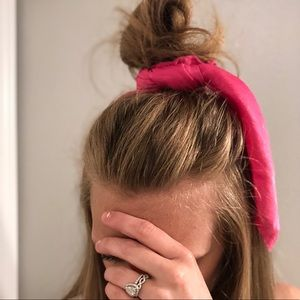 Accessories - Hot pink hair scarf and scrunchies 2 piece set